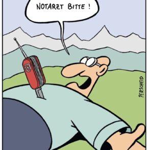 Humor zum Sonntag: Schweizer Messer, jetzt auch mit Telefon.
