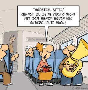 Humor zum Sonntag: Thorsten, bitte! Kannst Du Deine Musik nicht mit dem Handy hören wie andere Leute auch?