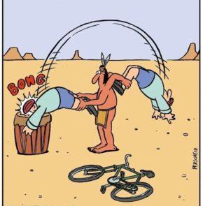 Humor zum Sonntag: Schon die Indianer benutzten Fahrradboten zur Übermittlung von Nachrichten.