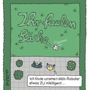 Humor zum Sonntag: Ich finde unseren Mäh-Roboter etwas zu intelligent...