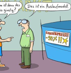 Humor zum Sonntag: Warum ist denn der Pool so günstig? Das ist ein Auslaufmodell.
