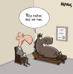Humor zum Sonntag: Alle reiten auf mir rum.